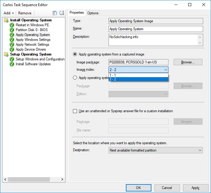 Task sequence Error 0x80070490 – No Solo Hacking